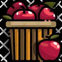 Apple Basket Apple Fruit Icon