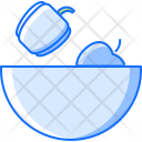 Apple Bowl Plate Icon