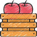 Apple Crate Food Dinner Icon