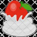 Apple Cream Apple Whip Whipped Cream Icon