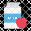 Milk Juice Apple Icon
