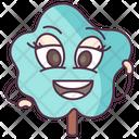 Shrub Tree Cartoon Tree Happy Tree Icon