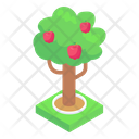 Greenery Fruit Tree Apple Tree Icon