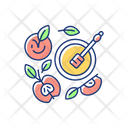 Apples And Honey Pot Icon