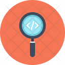 Application Coding Magnifier Icon