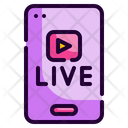 Live Streaming Application Application Smartphone Icon