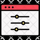 Application Configuration Page Optimization Icon