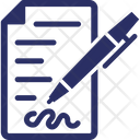 Application Form Justice Division Legal Contract Icon