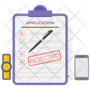 Application Rejected List Rejected Rejected Mail Icon