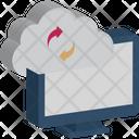 Application Status Cloud Application Update Data Synchronization Icon