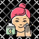 Applying Night Cream Icon