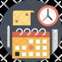 Planning Clock Pencil Icon