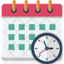 Appointment Calendar Clock Icon
