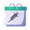 Calendar Vaccine Appointment Icon
