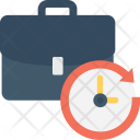 Appointment Briefcase Clock Icon