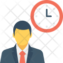 Appointment Time Businessman Icon