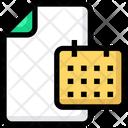 File Calendar Paper Icon
