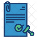 Approval Document Contract Icon