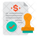 Stamp Contract Certification Icon