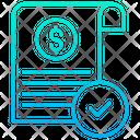 Approve Checkmark Approve Document Icon