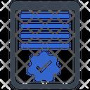 Approve Checkmark Document Icon