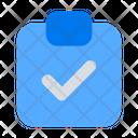 Document Check Clipboard Icon