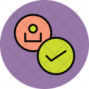 Approve User Employee Icon