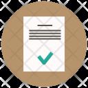 Approve Document File Icon