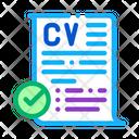 Confirmed Resume Recruitment Icon