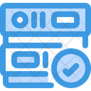 Check Approve Database Approve Server Icon