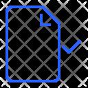 Approve File Paper Icon