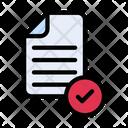 Approve File Approve Document Check File Icon