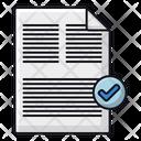 File Correct Paper Icon