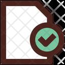 Approve File Check File Remove File Icon