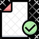 Approve File Verify File Approve Document Icon