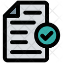 Approve File Check Document Approve Document Icon