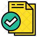 Approve File File Check Accept Icon