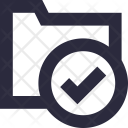 Folder Checked Archive Icon