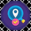Ilocation Finder Approve Location Accept Location Icon