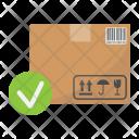 Carton Box Checkmark Icon