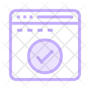 Done Tick Browser Icon