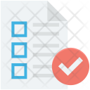 Approved Checklist Plan Icon