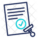 Approved Aproving Document Icon