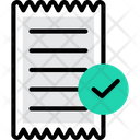 Approved Approved Receipt Approved Bill Icon