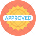Approved Sticker Label Icon