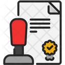Approved Checklist Stamp Icon