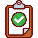 Approved Clipboard Report Approved Document Icon