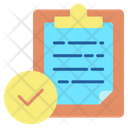 Approved Clipboard Icon