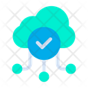 Verified Cloud Connection Verified Data Icon