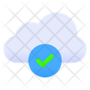 Approved Cloud Online Data Storage Checked Cloud Icon